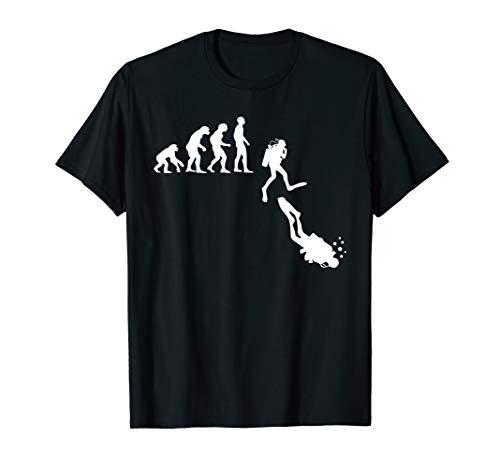 Tauchen Evolution I Menschen Entwicklung Idee T-Shirt