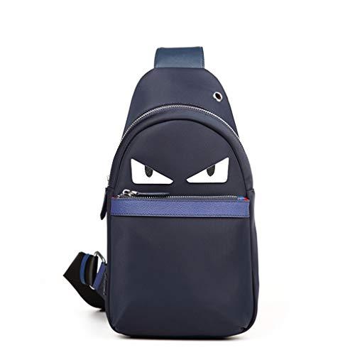 Umhängetasche Herren Casual Brusttasche Leinwand Anti-Diebstahl Brusttasche Mode Umhängetasche Reise Kleiner Rucksack (größe : 18 * 8 * 33cm)