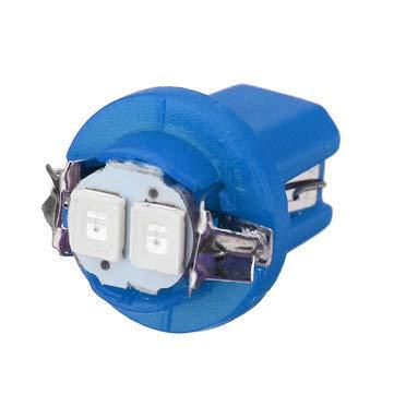 C-FUNN 1 Pcs T5 B8.5D 5050 LED Feux De Tableau De Bord De Voiture Tableau De Bord Jauge Coin Ampoule Latérale 12V - Bleu