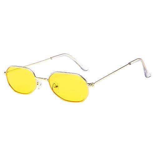LCLrute Herren und Damen Sonnenbrillen Damen Herren Vintage Retro Brille Unisex Small Frame Sonnenbrille Eyewear Verspiegelt UV-Schutz