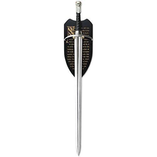 (Elbenwald Game of Thrones Longclaw Schwert von Jon Snow zur Deko Limitiert mit Wandplatte)