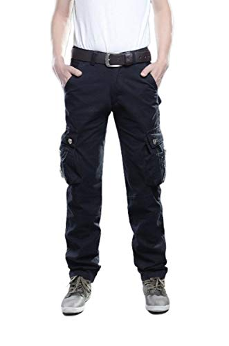 EnergyMen Twill Outdoor Straight Leg Relaxed Fit Combat Karate Pants Black 41