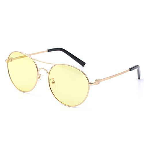 LKVNHP Neue Art UndWeise DerQualitäts -Photochromen Polarisierten Sonnenbrillen Männer Frauen Runde Sonnenbrillen Man Transition Uv400 Fashion Driving BrillenYellow