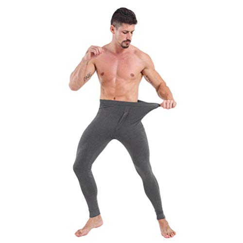 2a12a15bb714c BESTOYARD Men Thermal Bottom Winter Warm Long Johns Pants Elastic Woolen  Underwear Leggings Trousers Warm Slim