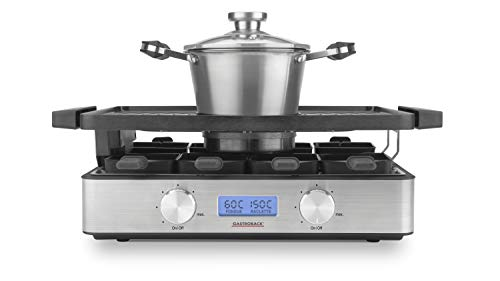 GASTROBACK 42561 Design Raclette-Fondue Advanced, seperat oder kombiniert verwendbar,...