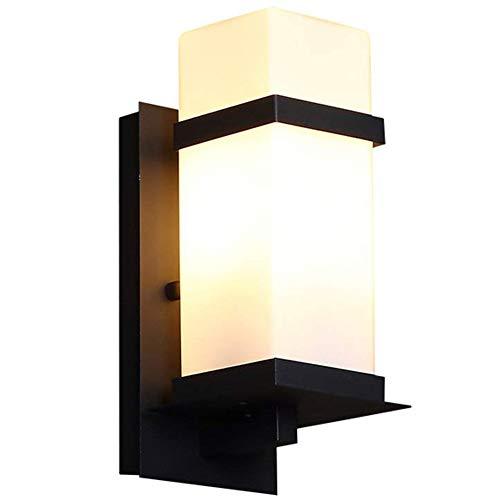LED Moderne Außenwand Laterne Lampe Gusseisen Gehäuse Mit Glasschirm, wasserdichte Außenwand Lampe Licht Für Veranda Hof Garage Wandleuchte -