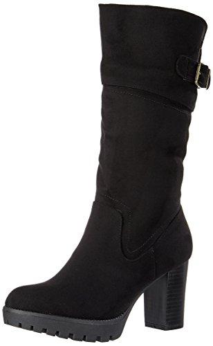 XTI Damen 063652 Stiefel Schwarz (Black)
