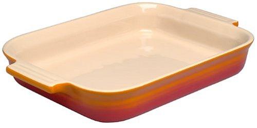 Le Creuset Stoneware Shallow Rectangular Dish, 18 cm - Volcanic