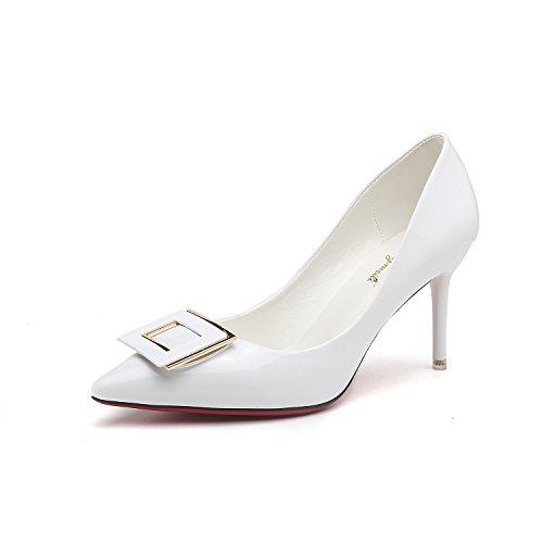 La punta della versione coreana di alta scarpe tacco punta fine con parte di high-end calzature donna scarpe matrimonio White