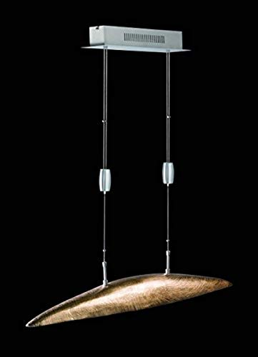 Honsel Leuchten Pendelleuchte, Metall, Champagner goldfarbig/Nickel matt, 105 x 12 x 105 cm