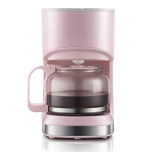 Amerikanische Kaffeemaschine für Konsumgüter und Gewerbe, Büro-Kaffeemaschine mit kleinem Tee, 550 Watt, 0,7L,Rosa,0.7L