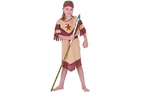 Kinder Girl Indian Kostüm - Fyasa 701297-t02Indian Girl Kostüm, Hellbraun, mittel