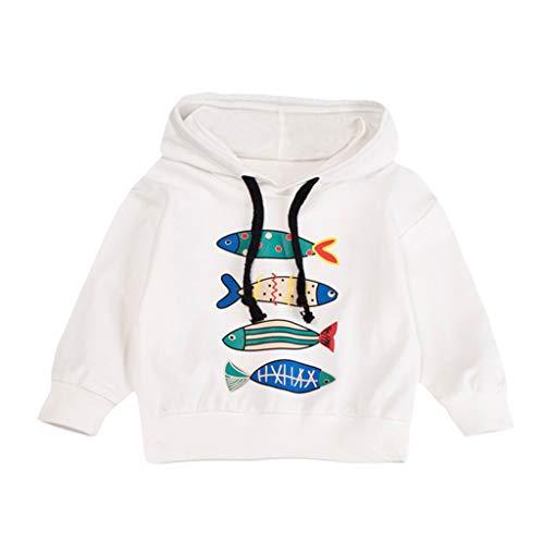 Dasongff Baby Kapuzenpullover Herbst Kid Jungen Basic Drucken Pullover mit Kapuze Hoodie Outfits Tops Taschen Kinder Kleidung Kapuzenshirt Kapuzenpullis Kapuzensweatshirt Sportpullover