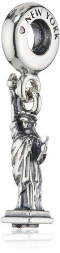 Pandora Damen-Charm 925 Sterling Silber 791077 (Charm Silber Freiheitsstatue)