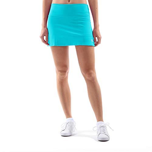 Sportkind Mädchen & Damen Tennis, Hockey, Golf Basic Rock mit Innenhose, türkis - neu, Gr. 164 - Golf Mädchen