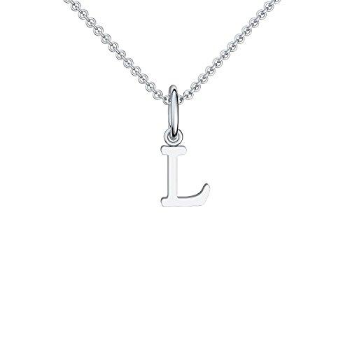 Buchstabenkette L Silber Buchstabenanhänger L - inkl. Luxusetui + - Namenskette Namensanhänger Buchstabe L Kette Buchstabe L Buchstabenanhänger Buchstaben Anhänger Silber FF115 SS92545