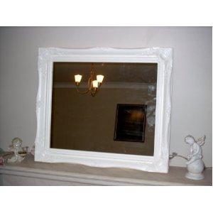 Frames by Post Large 5,1 cm bianco shabby chic Style specchio da ...