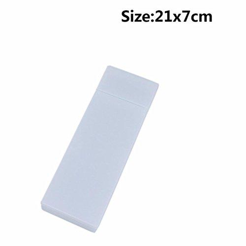 Gaddrt Multi-Color transparent Multi-Funktions Bleistift-Box Student Mäppchen Netter großer Speicher Kapazität Bleistift Kasten Halter (D) (Multi D-boxen)