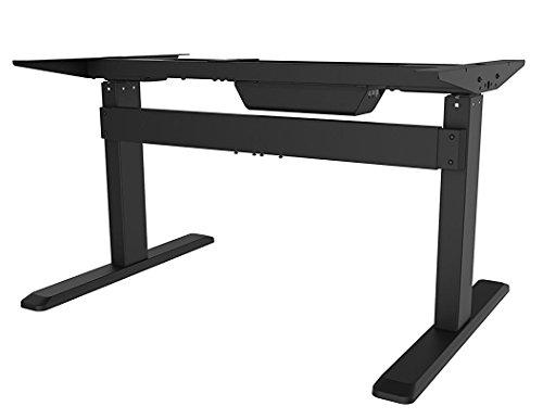 celexon Professional eAdjust-65120B Elektrisch höhenverstellbarer Schreibtisch in schwarz | Stufenlos höhenverstellbar von 65 bis 120 cm | 3 speicherbare Positionen | Einfache Bedienung über Bedienpanel | modischer Schreibtisch für das Büro und Home-Office