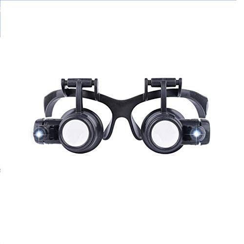 GG-magnifier Brille-Typ Lupe Uhr Reparatur mit LED-Leuchten Doppel-Augen-Maske Lupe Stempel Identifikation -