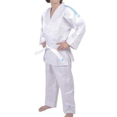 Judo kimono Kids 2 en 1 Evolution de Adidas J250E, taille 100-110