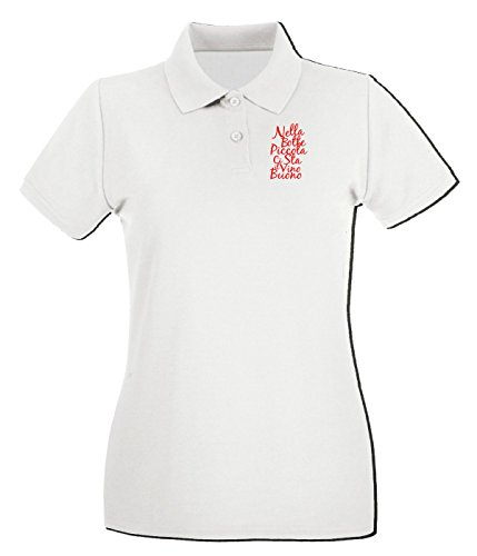 T-Shirtshock - Polo pour femme T0430 nella botte piccola fun cool geek Blanc