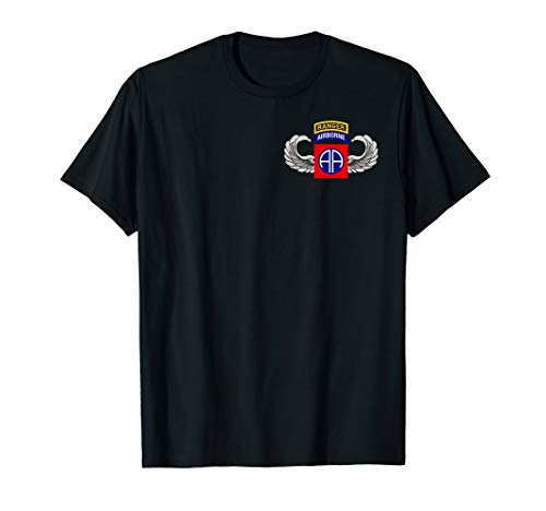 82nd Airborne Shirt - Wings, Patch & Ranger Tab T-Shirt - 82nd Airborne Shirts