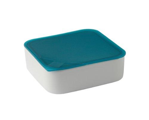 Arzberg Küchenfreund Récipient alimentaire en porcelaine Couvercle bleu turquoise