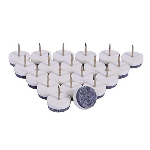 Asixx Filzgleiter, 20 mm Filznägel Gleiter aus Kunststoff + Filz + Metall für Tischen, Stühlen,...