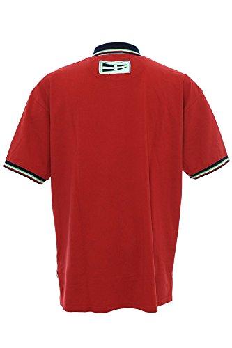 Kitaro Polo Poloshirt Herren Kurzarm Extra Lang Tall Rot