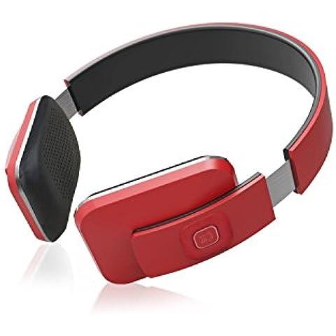 OldShark® Auriculares Bluetooth Auriculares inalámbricos auriculares elástico transpirable con almohadillas de piel con micrófono, color negro