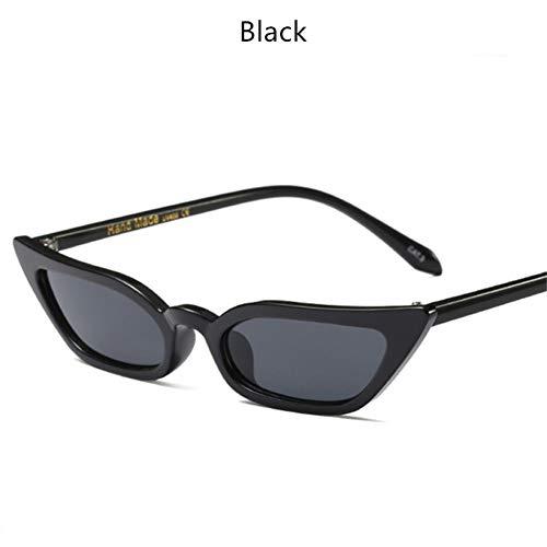 CCGSDJ Frauen Cat Eye Sonnenbrille Kleine Mode Retro Damen Sonnenbrille Schwarz Rosa Rot Brille