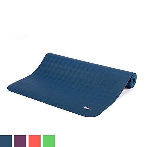 Natur-Kautschuk Yogamatte ECO PRO, extrem rutschfest, ozean-blau, 4mm, maschinenwaschbar, 100% Naturmaterial, Ökotex 100, ohne Zusätze, Antirutsch-Yogamatte ECOPRO, 185 x 60cm