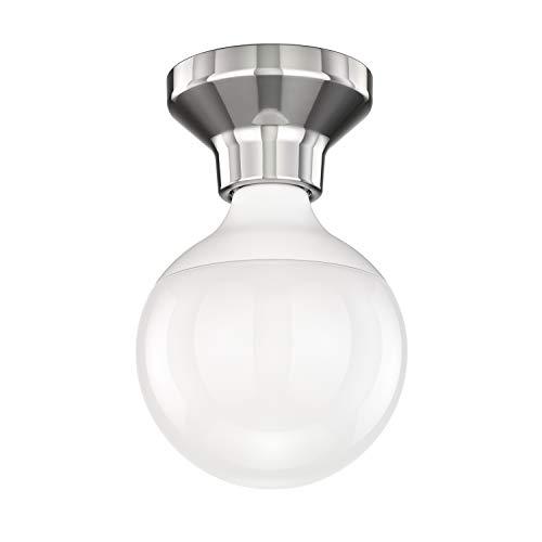 Decke Kugel (ledscom.de LED Deckenleuchte Elektra Porzellan Silber Kugel inkl. E27 G120 Lampe warm-weiß 1400lm)