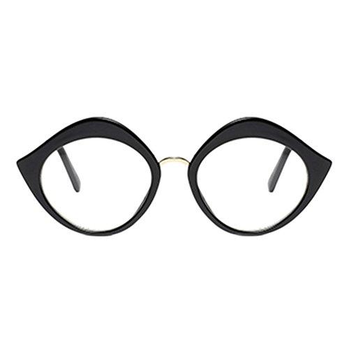 Hzjundasi Mode Lippen gestalten Brillen Rahmen Damen Frau Spectacles Klare Linse Glasses Korean Chic Persönlichkeit Rahmen Im Freien Optisch Brille