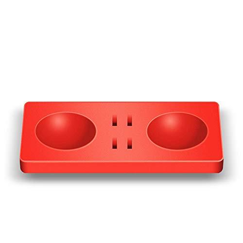 Fcostume Silikon-Pad für Nintendo-Switch-Spielkarten + Pokeball Plus Pokemon Lets Go Pikachu Eevee-Spiel (Rot)