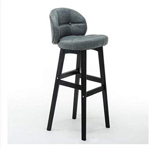 Sedia, bar sgabelli ~ legno massello sedile alti sgabelli cucina colazione pranzo con cuoio cuscini schienale semplice 40cm * 43cm * 6-b, 40cm * 43cm * 78cm