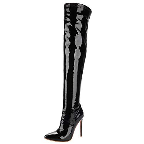 41414146d1bf6 ✓ Lackstiefel Damen Mit Absatz Vergleich - Schuhe für Jede ...