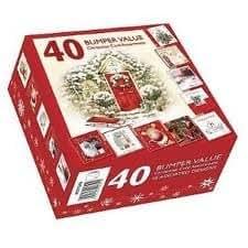 Weihnachtskarten set verschiedene designs 50 st ck k che haushalt - Weihnachtskarten amazon ...