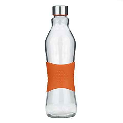 Grip & Go Bouteille en verre pour eau 1.0L -