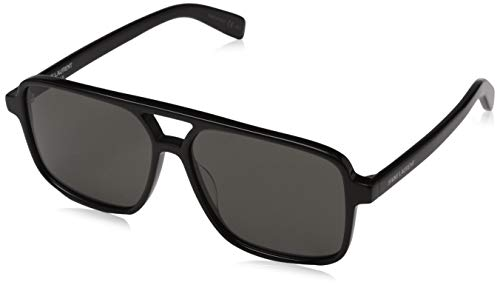 Saint Laurent Damen SL 176 001 58 Sonnenbrille, Black/Grey