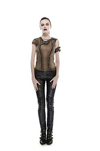 Women Shoulder Do Old Steam Punk T-shirt Gothic Cotton Short Sleeve T-shirt Top Tee,L steampunk buy now online