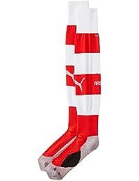 Puma AFC Hooped Socks, Men's (High Risk Red/White)