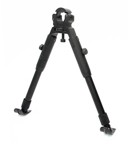 JINSE Tactical Airsoft Sniper Bipod Zweibein Softair Ständer Dragon Claw Clamp-on Einklappbar Einstellbare 9\'\' - 11\'\' Zoll Stahlder Ständer