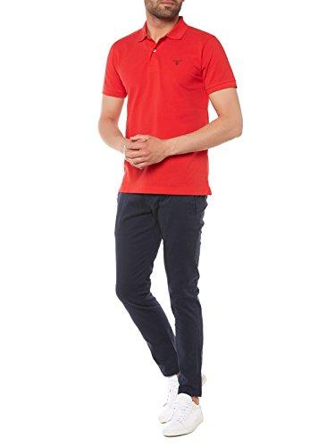 GANT Herren Poloshirt the Summer Pique Ss Rugger Rot