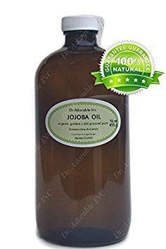 16 OZ JOJOBA OIL GLASS BOTTLE 100% ORGANIC MOISTURIZER RELIEF PURE & ORGANIC