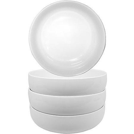 Besser und Gärten Porzellan weiß rund Coupe Set 4Schalen Coupe Cereal Bowl