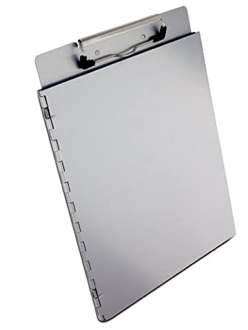 Saunders Recycled Aluminum Portfolio Clipboard with Privacy Cover, Letter Size, 8.5 x 12-Inches, 1 Clipboard (22017) by Saunders