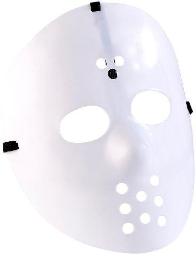 infactory Kostüm-Maske: Hockey-Maske für Halloween, weiß (Gruselige Maske)