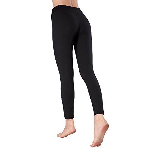 Beepeak da donna a rete per esercizi e ginnastica lunghi sportivi, leggings, pantaloni per Yoga Black